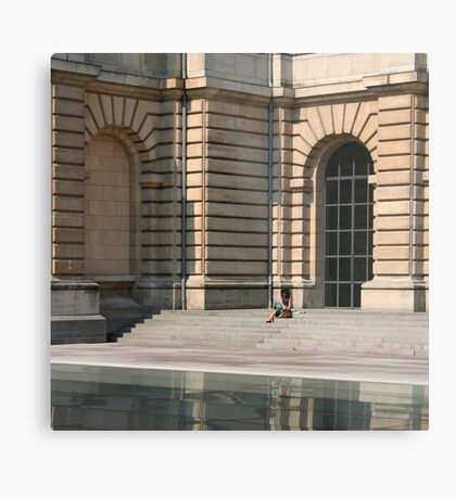 Lille, France - Reflective Lunch Metal Print