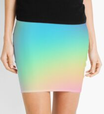 Soft Colorful Gradient Mini Skirt