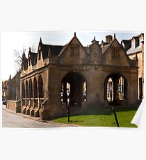 Chipping Campden Market Hall  Cotswolds UK  Poster