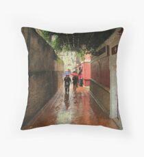 Rain in Sevilla Throw Pillow