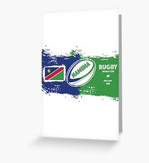 Namibia Rugby World Cup Greeting Card