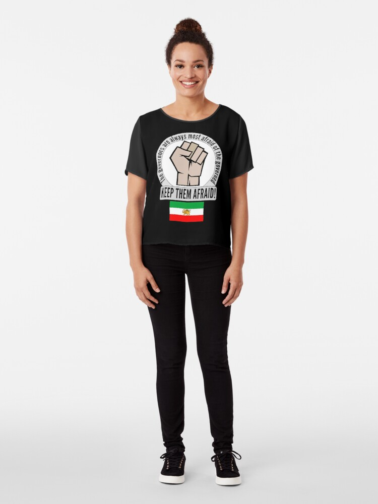Alternate view of Support the fight for freedom in Iran! Chiffon Top