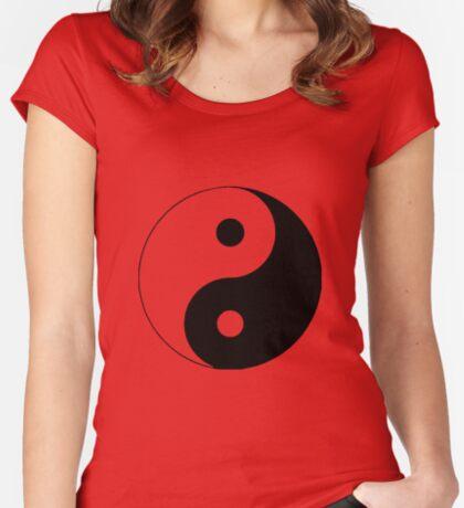 """Yin Yang"" Clothing Women's Fitted Scoop T-Shirt"