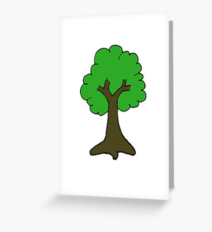 Tree Cartoon Greeting Card