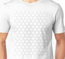 Polka Dot White Unisex T-Shirt