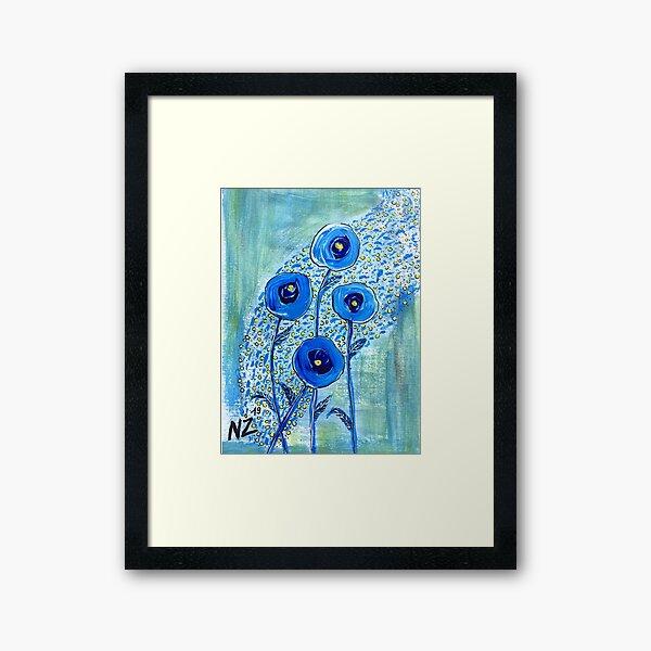 Blue'm bloom Impression encadrée