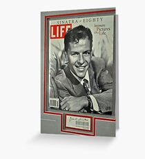 FRANK SINATRA LIFE COVER  Greeting Card
