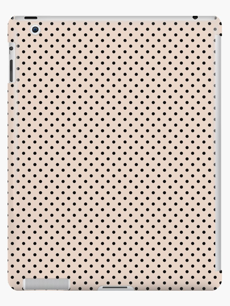 Polkadots Beige and Black by MEDUSA GraphicART
