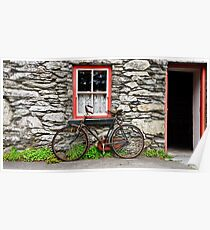 Rural Irish Countryside Village, Cottage, Photography. Poster