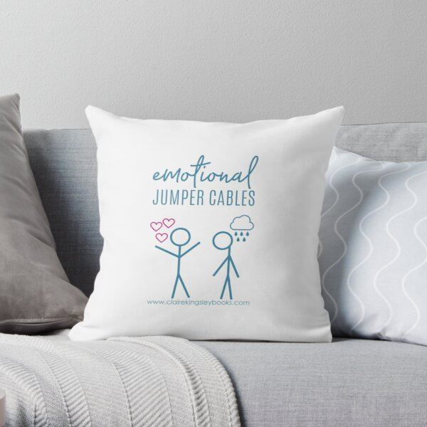 Emotional Jumper Cables Throw Pillow