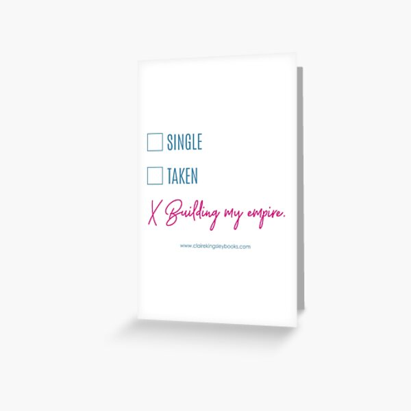 Building My Empire Greeting Card