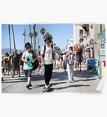 Cruising on The Venice Beach Boardwalk  Poster