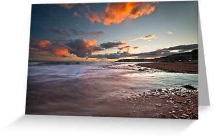 Charmouth coast at sunset by Shaun Whiteman