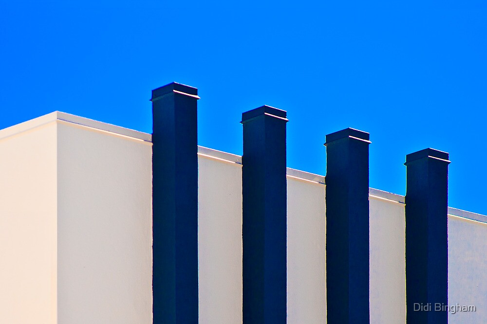 Blue Poles:  A Literal Interpretation by Didi Bingham