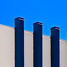 Blue Poles:  A Literal Interpretation by Damienne Bingham