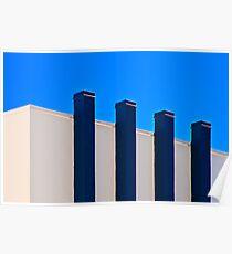 Blue Poles:  A Literal Interpretation Poster