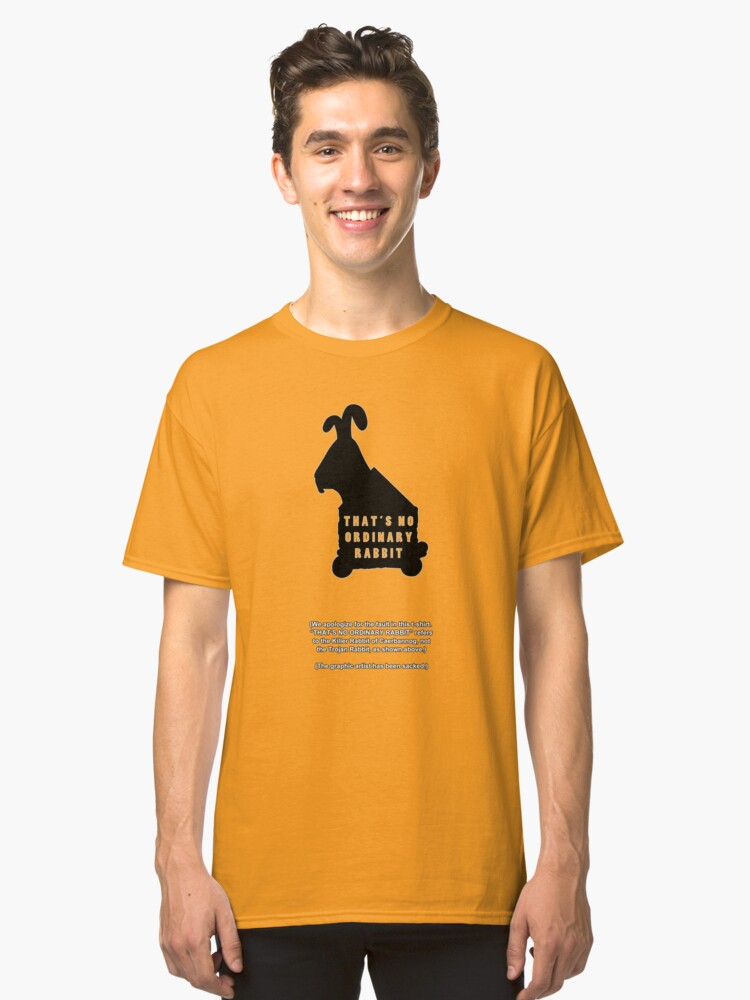 Alternate view of THAT'S NO ORDINARY RABBIT Classic T-Shirt