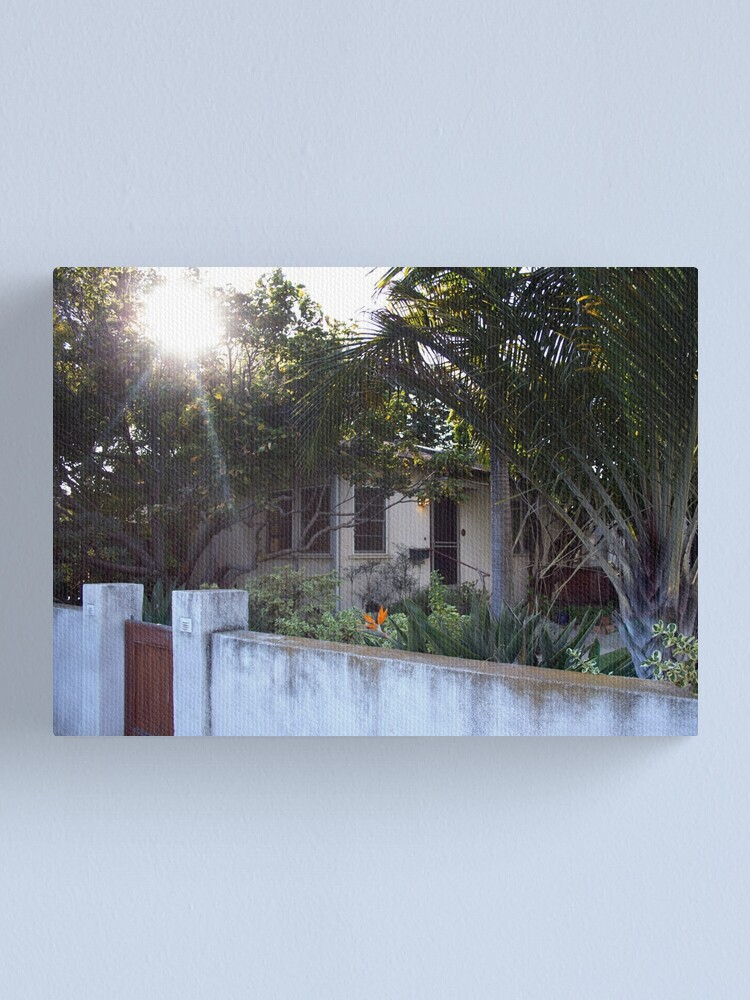 Alternate view of Sunlight Venice Beach California Bungalows Canvas Print