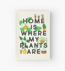 Home Is Where My Plants Are Hardcover Journal