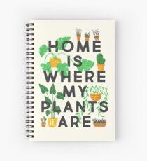 La maison est où sont mes plantes Cahier à spirale