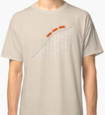 I'm On a Roller Coaster That Only Goes Up (Orange Cars) Classic T-Shirt