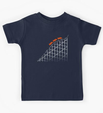 I'm On a Roller Coaster That Only Goes Up (Orange Cars) Kids Clothes
