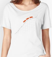 I'm On a Roller Coaster That Only Goes Up (Orange Cars) Women's Relaxed Fit T-Shirt