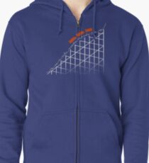 I'm On a Roller Coaster That Only Goes Up (Orange Cars) Zipped Hoodie