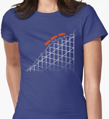 I'm On a Roller Coaster That Only Goes Up (Orange Cars) T-Shirt
