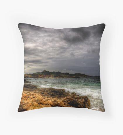 Moody Mediterranean Throw Pillow