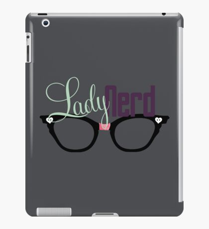 Proud LadyNerd (Black Glasses) iPad Case/Skin