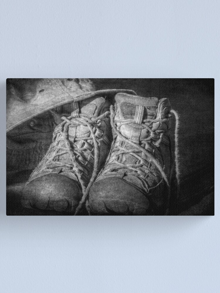 Alternate view of These Boots Canvas Print