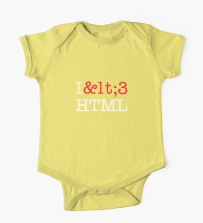 I <3 HTML (dark) Kids Clothes