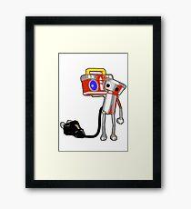 Chibi-Roboto Framed Print