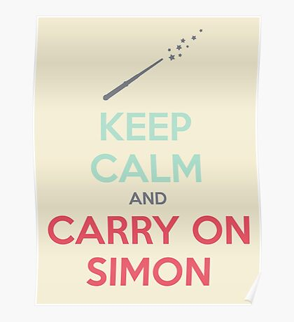 Keep Calm and Carry On Simon (Multi-Color Text) Poster