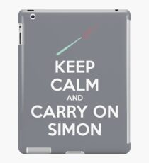 Keep Calm and Carry On Simon (White Text) iPad Case/Skin