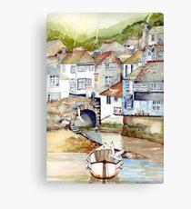 Low Tide Polperro Canvas Print