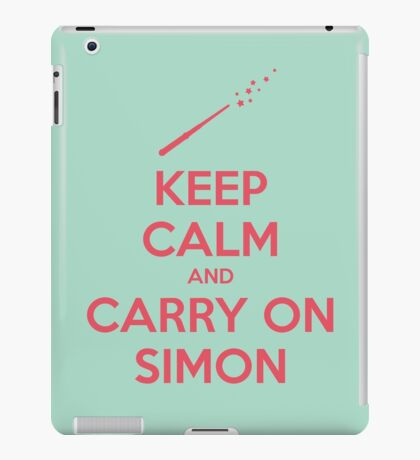 Keep Calm and Carry On Simon (Pink Text) iPad Case/Skin