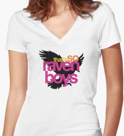 That's So Raven Boys Women's Fitted V-Neck T-Shirt