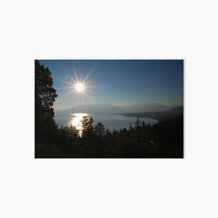Sunrise at Lake Tahoe Art Board Print
