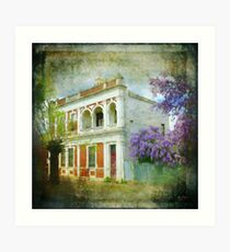 Old House with Wisteria Art Print