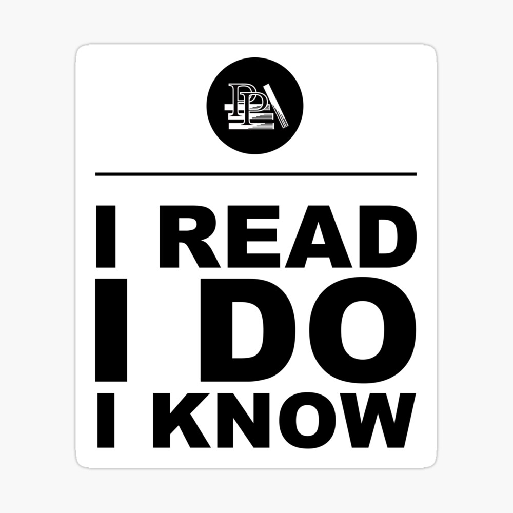 I Read. I Do. I Know. Pragmatic Bookshelf. Sticker Sticker