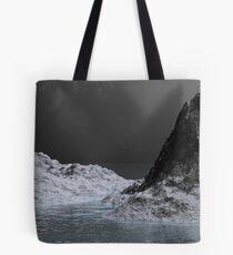 Ice Ravine by Moonlight Tote Bag