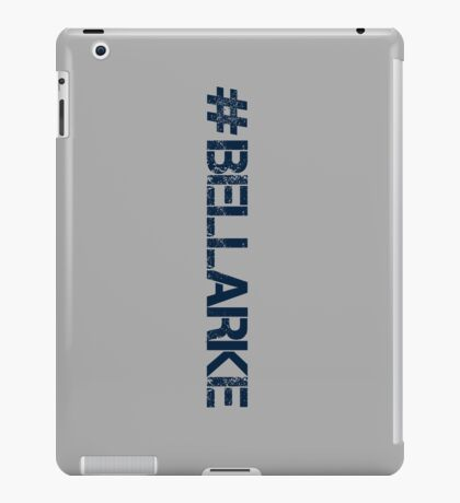 #BELLARKE (Navy Text) iPad Case/Skin