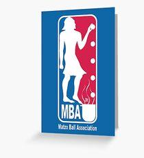 Matzo Ball Association (NBA Passover Parody) Greeting Card