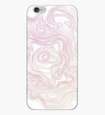 Gradient Topography Contour Art iPhone Case