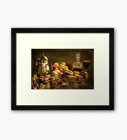Lunch. Framed Print