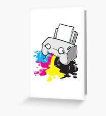 Puker Printer Greeting Card
