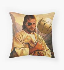 Venom Jesus Snake - parody Throw Pillow