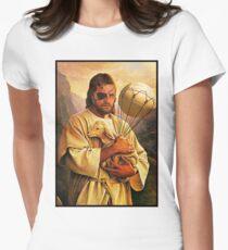 Venom Jesus Snake - parody Women's Fitted T-Shirt